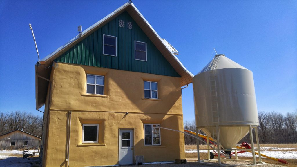 The straw-bale house at Ploughshares