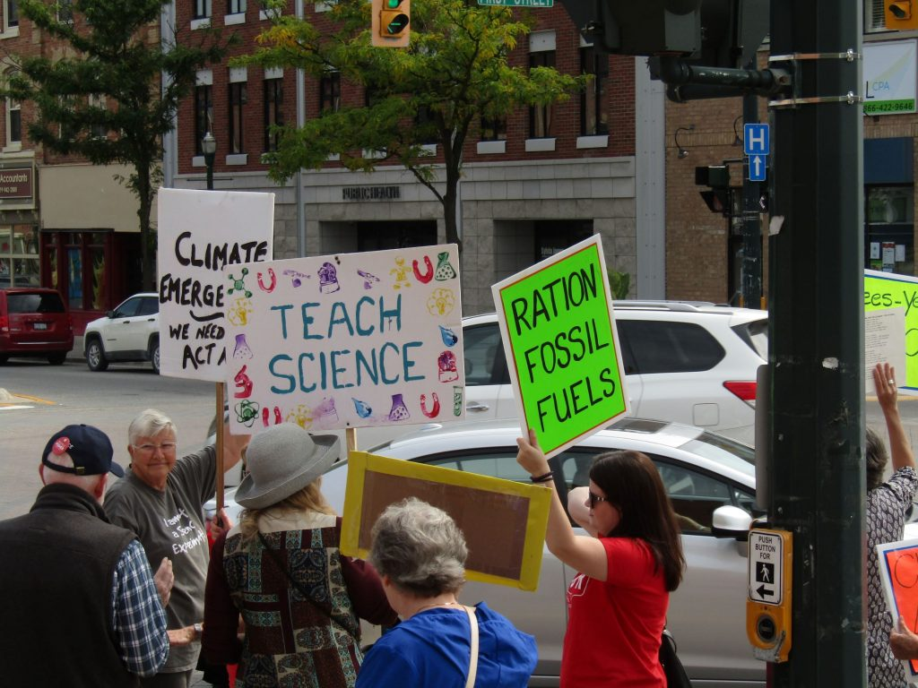 Fridays for the Future climate protests in Orangeville.